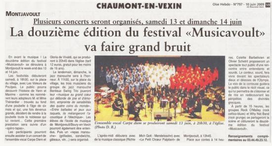 Article de l'Oise Hebdo